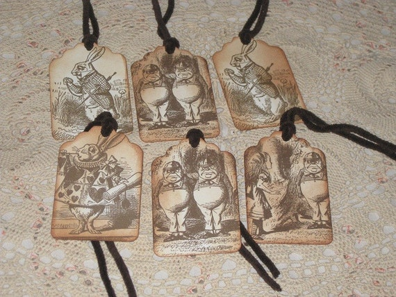 Alice in Wonderland Vintage Gift Tags