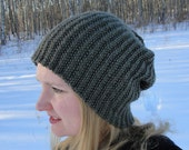 "Knit HAT PATTERN - ""Brock Beanie"", Toque, Slouch, Women's hat, Men's hat, Children's hat, PDF pattern"