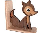 Fox Wooden Animal Bookend Heirloom: Baby Kids Children Nursery