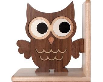 Woodland Owl Animal Bookend
