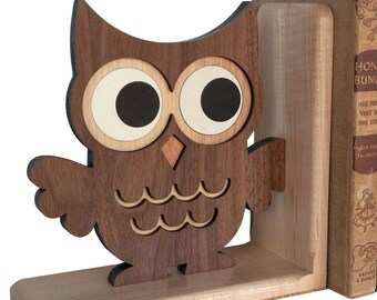 Woodland Owl Forest Animal Bookend (1)