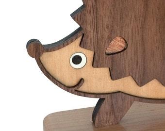 Woodland Hedgehog Forest Animal Bookend (1)