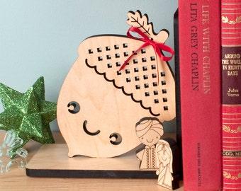 Acorn Wood Bookend: Modern Baby Nursery Children
