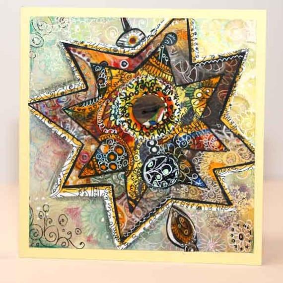 Greeting Card Star, original artwork