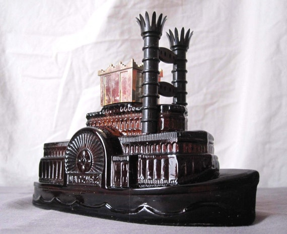 items similar to collectible full avon natchez steamboat. Black Bedroom Furniture Sets. Home Design Ideas