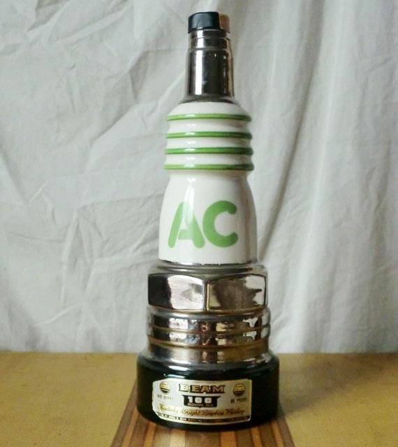 1970s AC Delco Spark Plug Decanter for Jim Beam