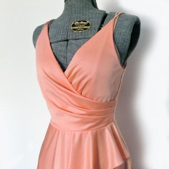 Gorgeous 1970s Peach Dress