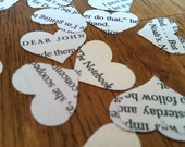novel wedding confetti - medley of Nicholas Sparks romance novels - 500 heart confetti The Notebook/Dear John and more