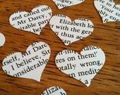 novel wedding heart confetti from Pride and Prejudice by Jane Austen - Mr. Darcy - 500 heart shaped confetti