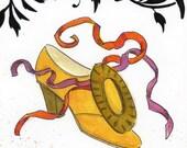 shoe 12 / every pilgrim would be envious... / original watercolor