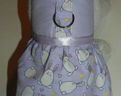 Easter Egg Bunny Rabbit Harness Dress. Perfect Item for your Cat, Dog or Ferret. All Items Are Custom Made For Your Pet.