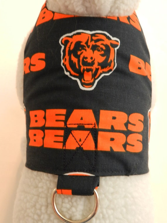NFL Football Chicago Bears Harness. Perfect Item for your Cat, Dog or Ferret. All Items Are Custom Made For Your Pet.