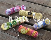 Keychain Lip Balm Holder x2 - Crocheted - Back to School