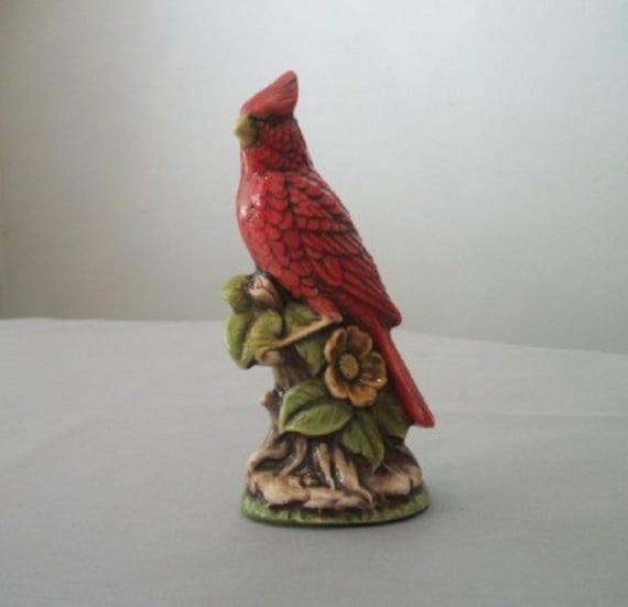 Ceramic Cardinal Bird Home Or Garden Decor By Tlcceramicsil