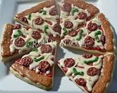 Pizza Cookies - 1 Dozen Cookie Favors