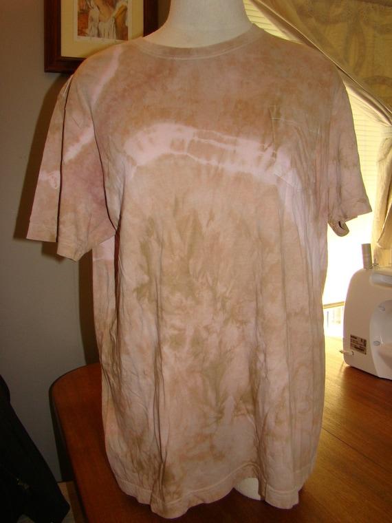 Tie Dyed Tee Shirt Recycled Cherokee Brand T Shirt in Large Repurposed Shirt