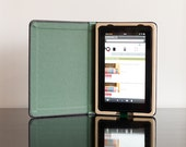 SALE - The Fire Keeper for Kindle Fire Tablet hard case Black/Field Green with Pocket Ships Priority Mail