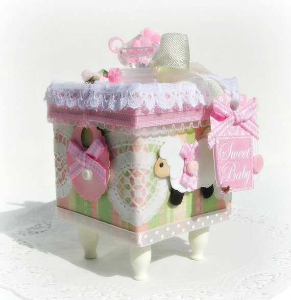 Baby Gift Keepsake Box : Baby girl gift box memory keepsake