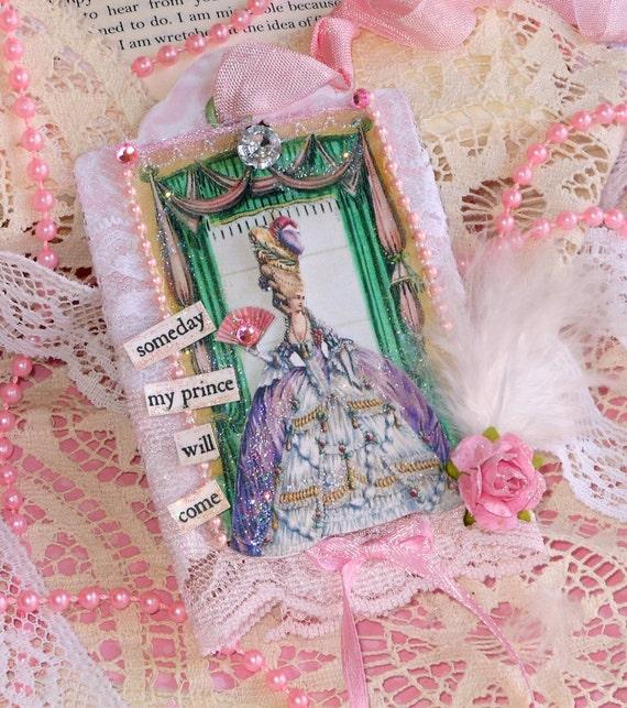 Marie Antoinette Mixed Media Art Tag