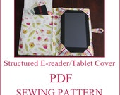 INSTANT DOWNLOAD PDF Sewing Pattern  Structured e-reader/tablet cover