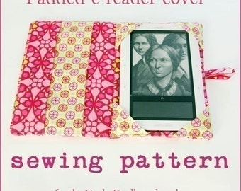 instant download The Original Padded e-reader PDF Sewing Pattern updated to include the new line of Kindles, nooks and ipad mini