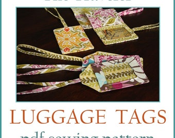 INSTANT DOWNLOAD The Traveler Luggage Tag PDF sewing pattern