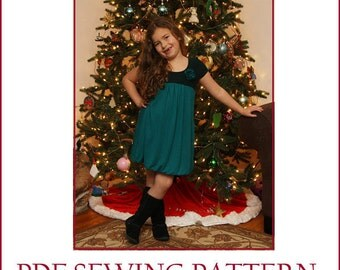 INSTANT DOWNLOAD pdf dress pattern Sofia's Holiday Party Dress PDF Pattern