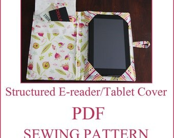 INSTANT DOWNLOAD Structured e-reader/tablet cover PDF Sewing Pattern