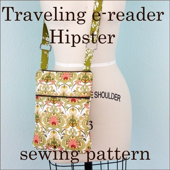 INSTANT DOWNLOAD Traveling e-reader Hipster PDF sewing pattern