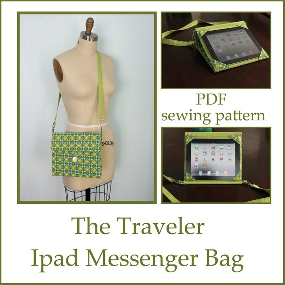 INSTANT DOWNLOAD Ipad messenger case and stand PDF sewing pattern