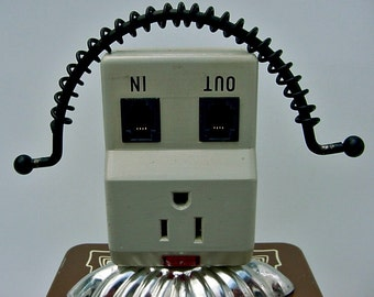 Robot Assemblage-Sugar-Junk Art-Found Object