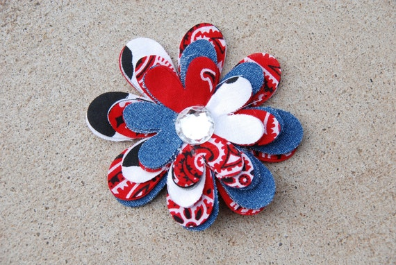 Little Miss Independence hair flower