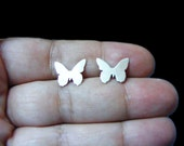 Butterfly Stud Earrings , Butterfly earrings ,  Sterling Silver Stud / Post  Earrings.