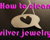 How to clean your silver jewelry by Noya silver jewelery