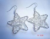 Star Shaped Wire Earrings