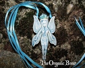 Beautiful Blue Fairy Vial Pendant