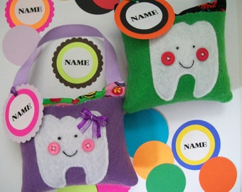 Personalize Tooth Fairy Pillow -  Paper punched tags