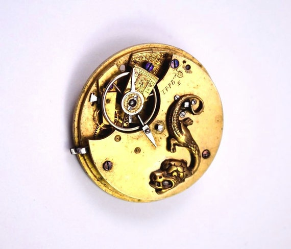 Steampunk Brooch, Dragon, Medieval Creature, One of a Kind Brooch