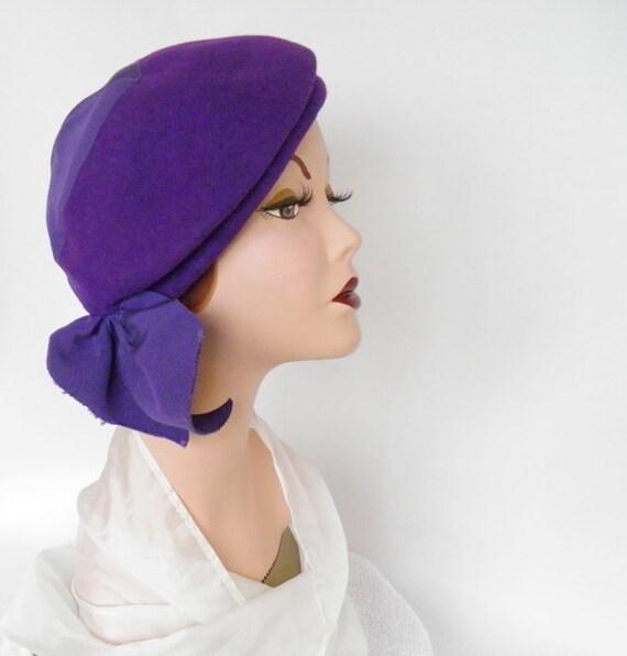 Vintage 1930s/40s hat tilt slouch,  Milgrim