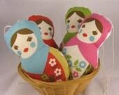 4 Matryoshkas Lavender Sachet - Russian Doll - Babushca -