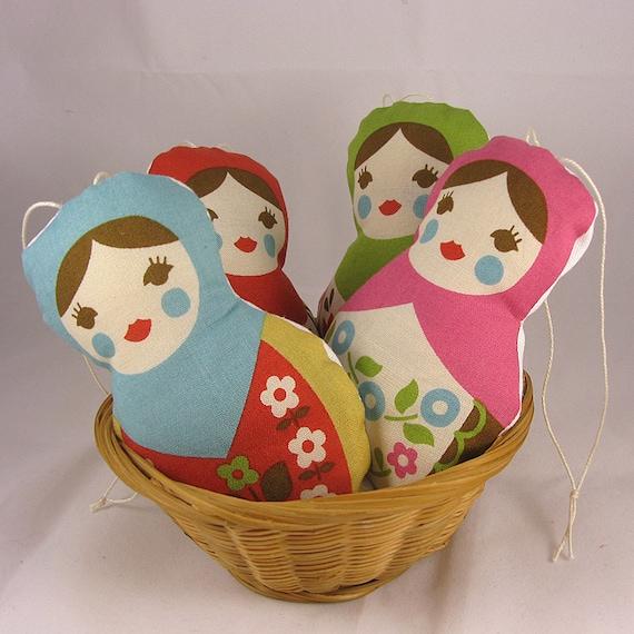 1 Pink Matryoshka Lavender Sachet - Russian Doll - Babushca -