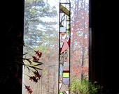 Wonderful springtime stained glass panel gift art glass home decor glass art home and living