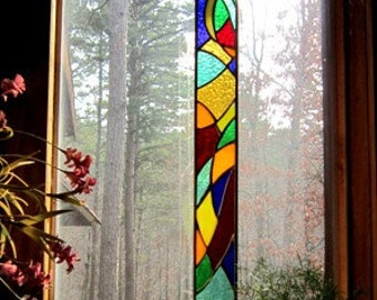 Magnificent stained glass panel glass artgift suncatcher decorative art glass