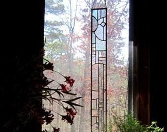 Elegant STAINED GLASS PANEL glass art gift Suncatcher Stained Glass Window window treatment interior design