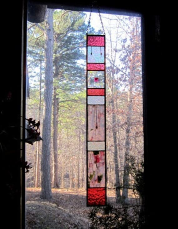 WOW/Stunning stained glass Panel suncatcher decorative arts stained glass window