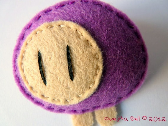 Sheep felt brooch, little gift, cute jewellery, Rainbow Collection - Choose your colour
