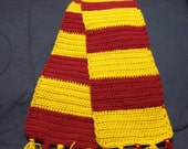 Burgundy and Gold Scarf - Potter