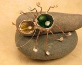 Glass Cabochon Spider