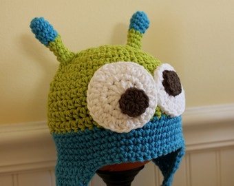 Crocheted Alien Hat