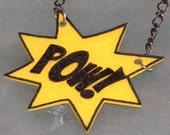 POW burst necklace (yellow)